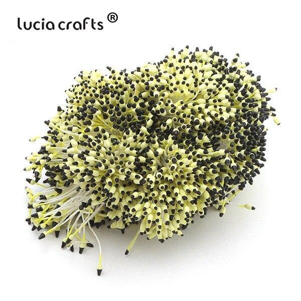 288 шт 60 мм разноцветные варианты наконечник пестик тычинка цветок тычинка украшения торта двойная головка тычинки D0501 - Цвет: color 7