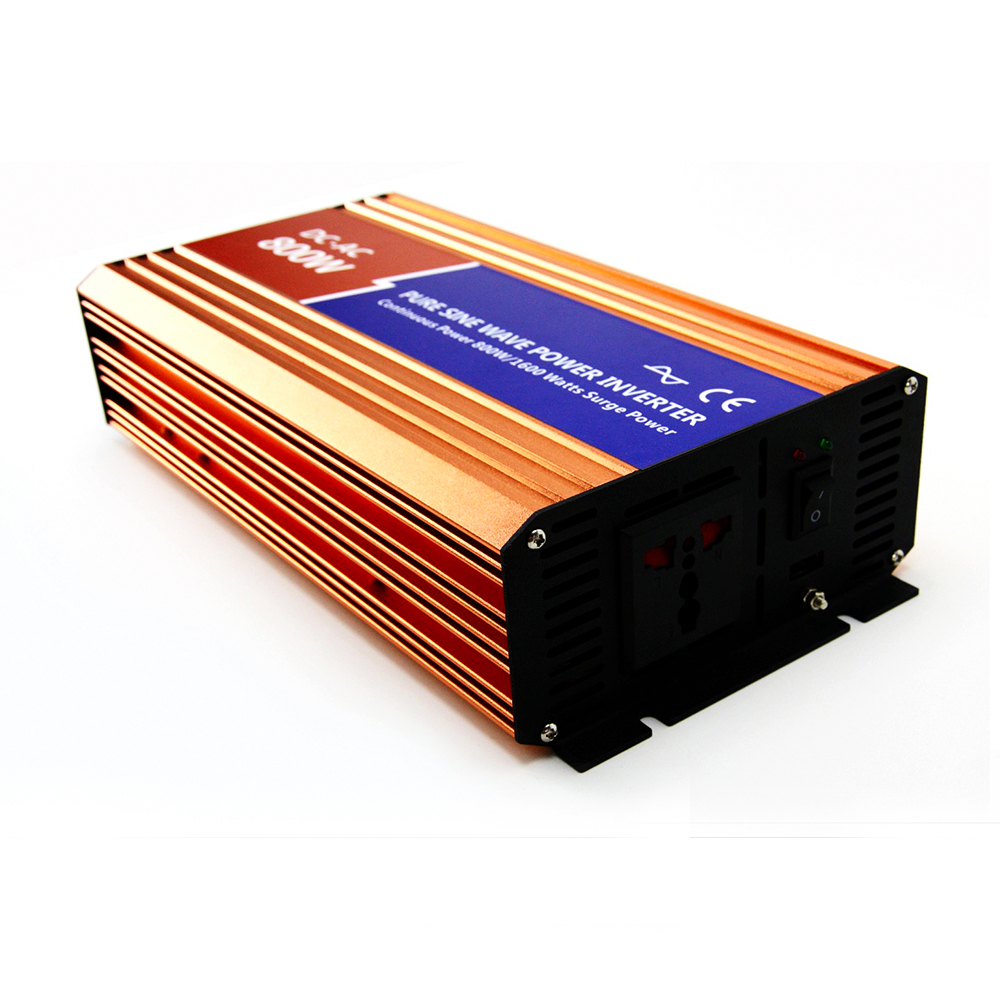 MAYLAR 800W Off-grid Pure Sine Wave Power Inverter  DC 24V AC 100V 110V 120V For Solar Home PV or Wind Turbine System Connected maylar 3 phase input45 90v 1000w wind grid tie pure sine wave inverter for 3 phase 48v 1000wind turbine no need extra controller