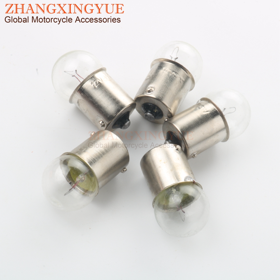 5pc 6V 10W BULB BA15S G18 White For Motorcycle Scooter Motocross Karting 50cc 125cc 200cc 246510655