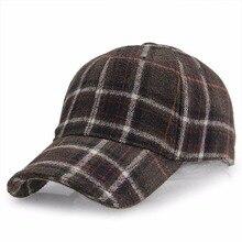 Snapbacks Cotton Plaid Woolen Cap