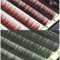 Professional Colorful False Eyelash Extension 0.12mm Mixed Length 3d 6d Natural Individual Color Eyelashes tools