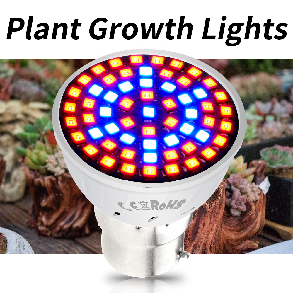 GU10 Led Grow Lamp MR16 Led 220V Culture Indoor Fito Led Bulb Seedling E27 Plant Light For Greenhouse E14 Growbox Phytolamps B22