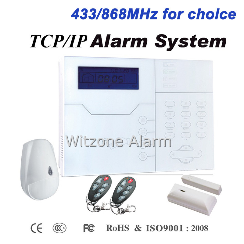 433/868MHz RFID TouchKeypad LCD Display GSM TCP IP Network Alarm System, Hot Selling in Russia/Czech/France/Italy/Netherlands rfm01 433 868 915mhz