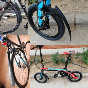 Image 5 - חדש פטנט 700*23 25C אופני מגן בץ אופניים לכביש אופני 14 16 20 INCH מתקפל אופני בוץ משמר Ultralight