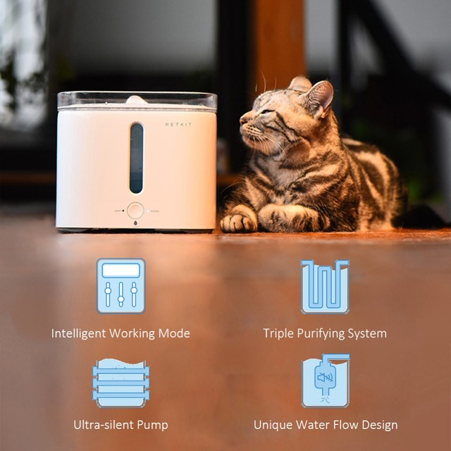 Nicrew Ultra-Silent Pump Automatic Pet Drinking Fountain Water-Shortage Filter-Change Cat Dog Drinking Water Dispenser Bowel