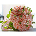 Hand Silk Wedding Bouquet Flowers For Wedding Decoration Elegant Artificial Silk Rose flower Bride Wedding Throw Bouquet WF006