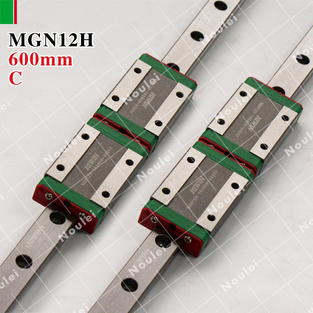 цена на HIWIN MGN12H mini MGN12 slide block with 12mm linear guide rail 600mm for 3d printer High efficiency CNC kit