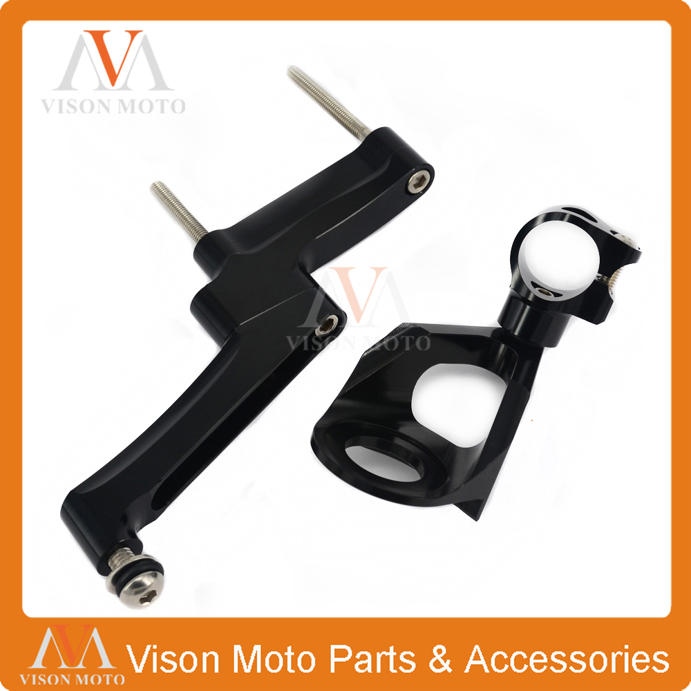 CNC Direction Steering Damper Stabilizer Holder Bracket Mounting For SUZUKI GSXR1300 GSXR 1300 98 99 00 01 02 03 04 05 06 07-16