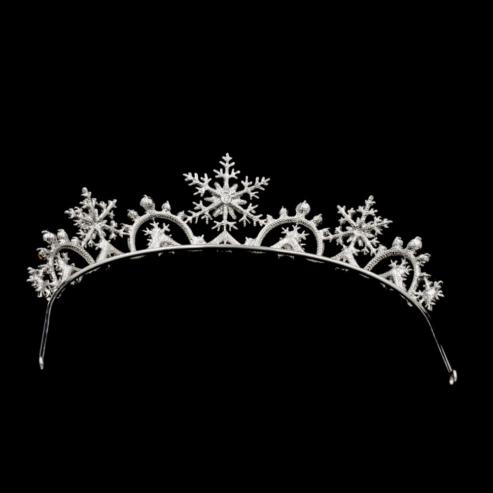 Image 5 - Real Austrian Crystals Women Princess Snowflake Tiara Crown  Bridal Wedding Christmas Hair Jewelry Accessories SHA8756hair jewelry  accessoriessnowflake tiaratiara crown