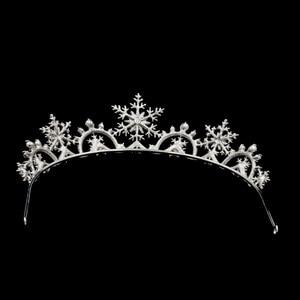 Image 5 - Real Austrian Crystals Women Princess Snowflake Tiara Crown Bridal Wedding Christmas Hair Jewelry Accessories SHA8756