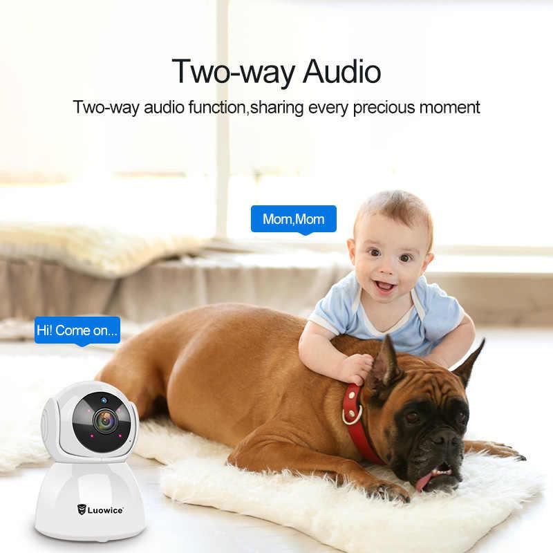 3MP full HD Home Security Wi-Fi Камера H.265 двухстороннее аудио CCTV Камера Детские minitor в помещении с телефонным пультом управления Управление IP Камера