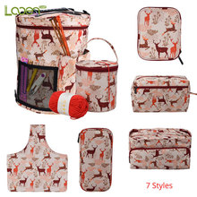 7 Styles Looen Empty Knitting Bag Yarn Storage Crochet For Hook and Needle Sewing Tools Accessories Mom