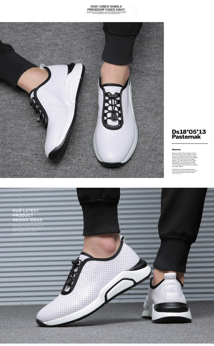 Spring Autumn Men Casual shoes Genuine leather Breathable Male Sneakers Lace-Up Flats Sport shoes zapatos de hombre 02A 24