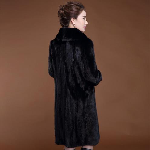 Vintage Épaissir De Écrémé Femelle Nouveau Manteaux Élégant D'hiver Manteau Wr598 Fourrure Plus En Fausse Manches 2018 La Vestes Taille Longues Femmes À Faux 8H4AgUx