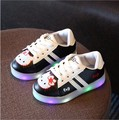 Kids Shoes With Light Chaussure Led Enfant Spring Autumn Stars Light Led Girls Shoes Sports Breathable Boys Sneakers Size 21-30