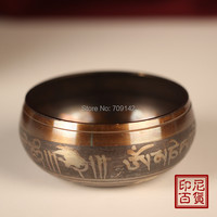 Beautiful wholesale Diameter 6Inch 150mm Tibetan Buddhism Cuprum Mantra Bronze Buddhism copper singing bowls