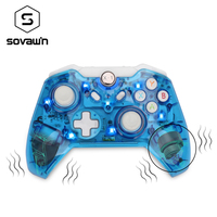 Gamepad USB For Xbox One 360 For PC Controller Vibration Wireless Controller Joystick Joypad Transparent LED For PC Windows 7/8