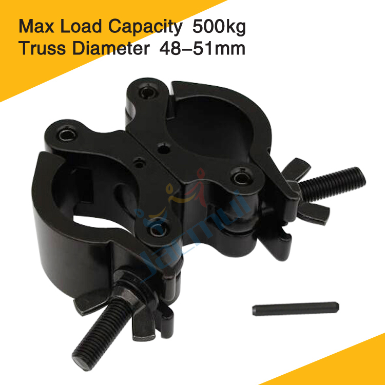 Load 500kg Can 90 Degree Fixation Light Bar Tube Clamp Swivel Pipe Clamp