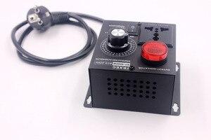 Image 4 - תצוגת Led AC 220V 4000W SCR אלקטרוני מתח רגולטור טמפרטורת מנוע מאוורר מהירות בקר דימר חשמלי כלי