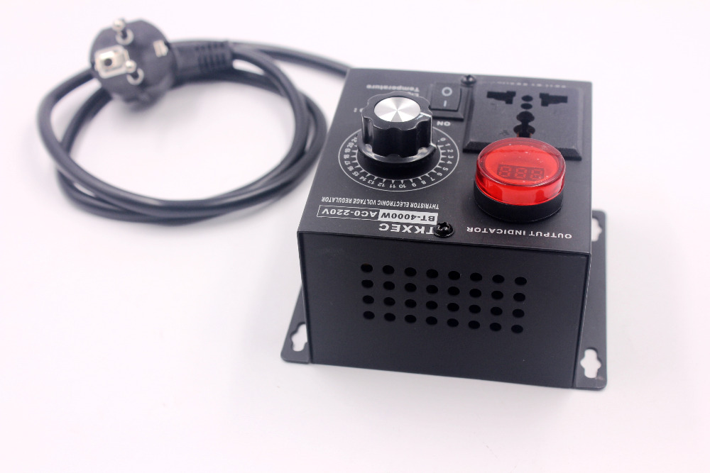 Image 4 - Led Display AC 220V 4000W SCR Electronic Voltage Regulator Temperature Motor FAN Speed Controller Dimmer Electric tool-in Motor Controller from Home Improvement