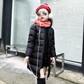 2016 Winter New baby Gilrs Warm Casual Coat Girl Thick Down Slim Jacket Kid Down Outerwear Girls long sections thick down jacket