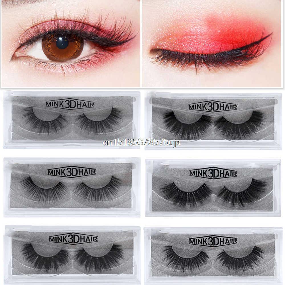 4da0c6ab20a 2019 Eyelashes 1Pair 100% 3D Mink Lashes Luxury Hand Made Reusable Mink Lash  Long Lasting