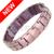Channah 2017 hombres 4in1 imanes germanio iones negativos infrarrojo lejano titanium pulsera marrón púrpura envío libre del brazalete del encanto