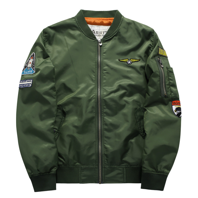 Mens Autumn Winter Casul US American Pilot Bomber Military Army Flying Windproof Jackets Cool Flight Clothing 5XL 6XL Thin
