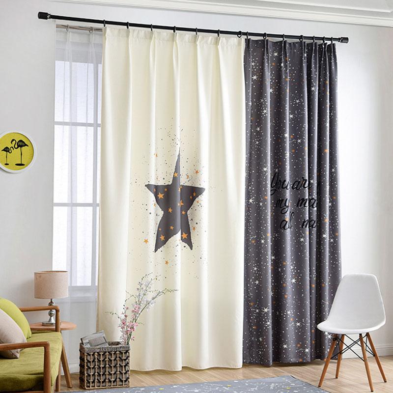 Panneaux simples numérique imprimé 3d rideaux pour chambre fenêtre décoration Style nordique étoile motif salon rideaux rideaux