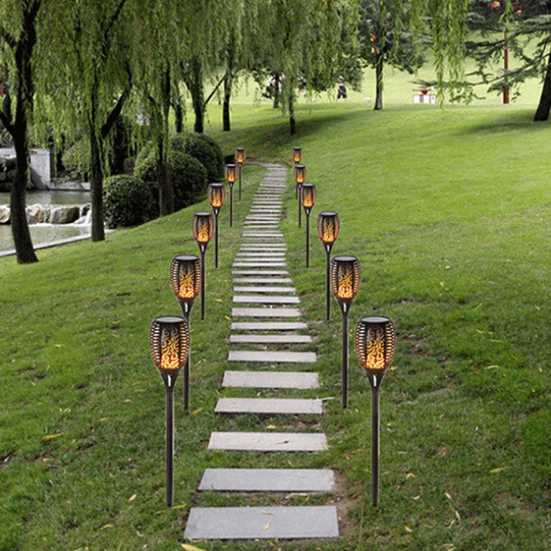 1/2/4 PCS LED Solar Torch Light Home Garden Solar Outdoor Waterproof Lawn Lights Lantern Lamp Garden Pathways Yard Patio bison rolling grill