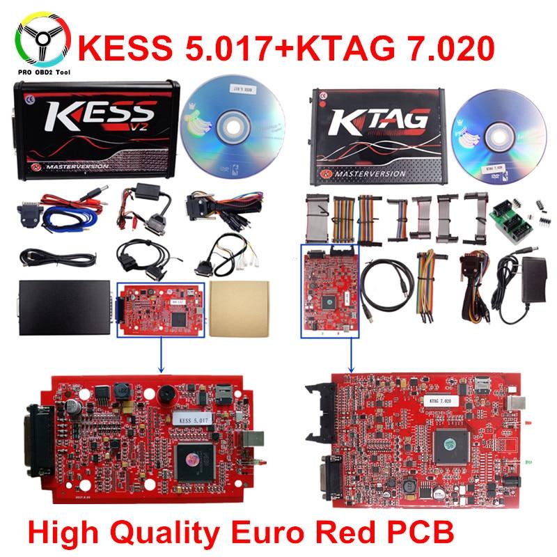 Online Ktag 7.020 V2.23 No Token Limite KESS 5.017 2.23 Master ECU Programmatore K-Tag V7.020 ECU Strumento Chip Tuning Inviare ECM GPT