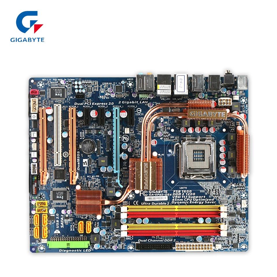 Original Gigabyte GA-EP45-DS4 Desktop Motherboard EP45-DS4 P45 LGA 775 DDR2 16G SATA2 USB2.0 ATX 100% Fully Test original gigabyte ga 945gcm s2c desktop motherboard 945gcm s2c 945gc lga 775 ddr2 4g sata2 micro atx 100% fully test