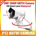 HD 1080 P TVI Камера PTZ Открытый 10X Оптический Зум 5.1-51 мм Объектив Панорамирования/Наклона вращения ИК 80 М 2-МЕГАПИКСЕЛЬНАЯ Пуля CCTV Камеры Безопасности
