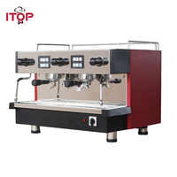 Espresso Coffee Maker for ITALY Coffee with Hot Water Outdoor Two Milk Foams Heavy Duty Machine