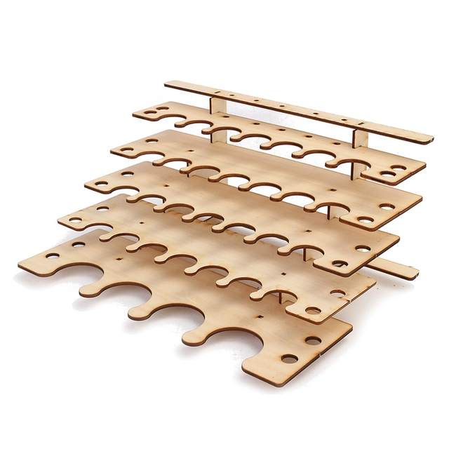 aliexpress com buy best price 32 holes paint stand rack diy wood
