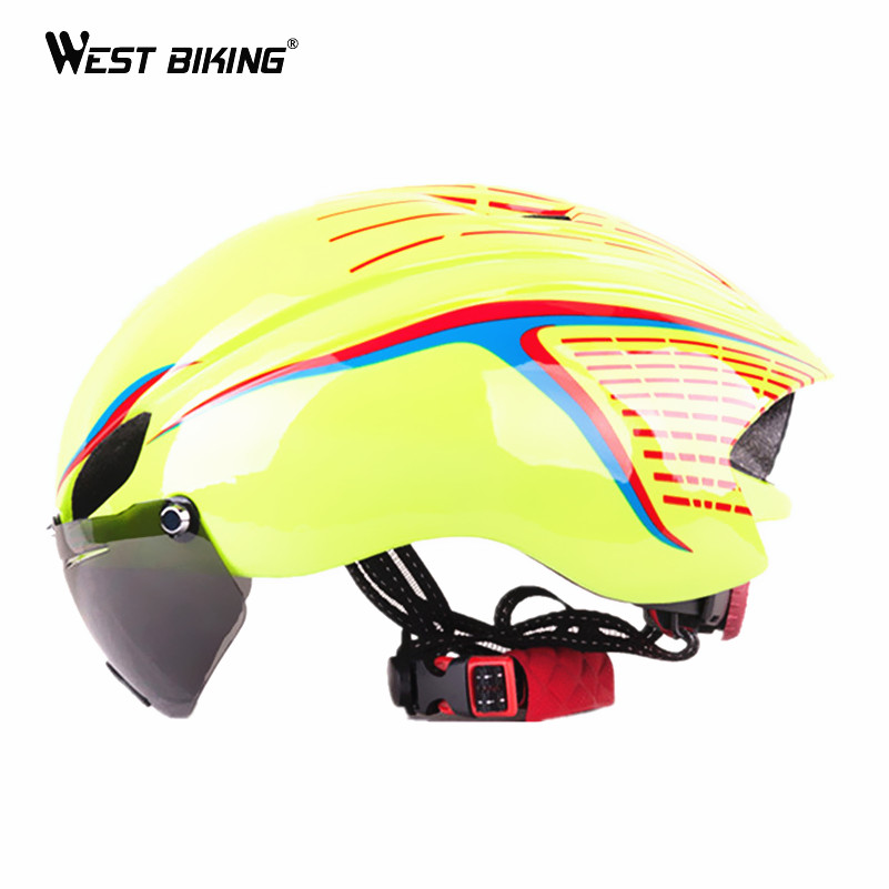 WEST BIKING Integrally EPS Cycling Helmet with Goggles Aerodynamic Ultra-Light Mountain  ...