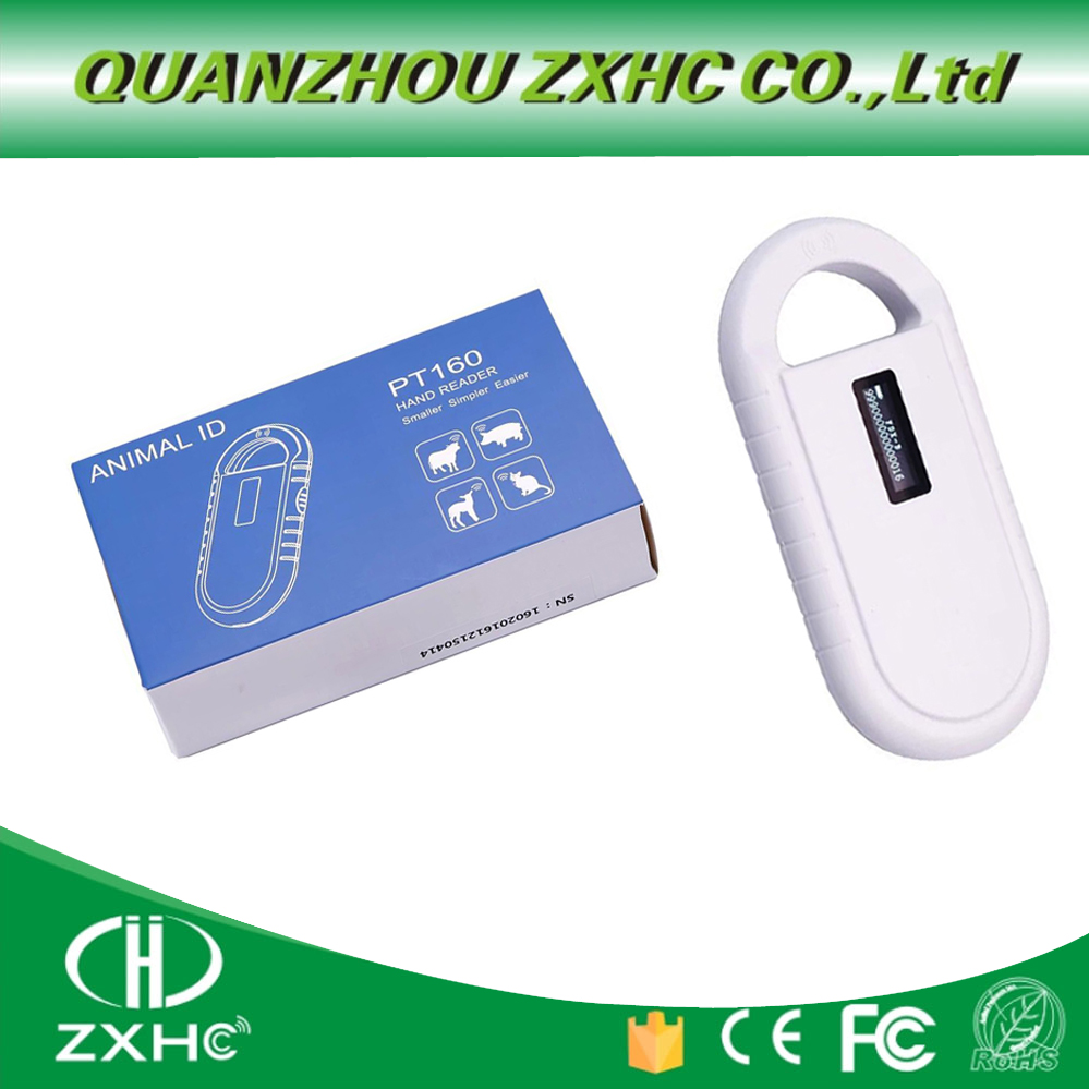NEW Product Portable OLED Display RFID ISO11784/11785 134.2Khz FDX-B Microchip Reader Scanner For Dog Or Cat