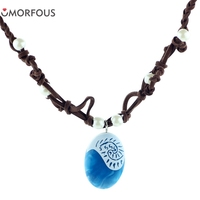 20PCS/Lot Moana romance Rope chain necklaces blue Stone necklaces & pendants necklace for women female jewelry