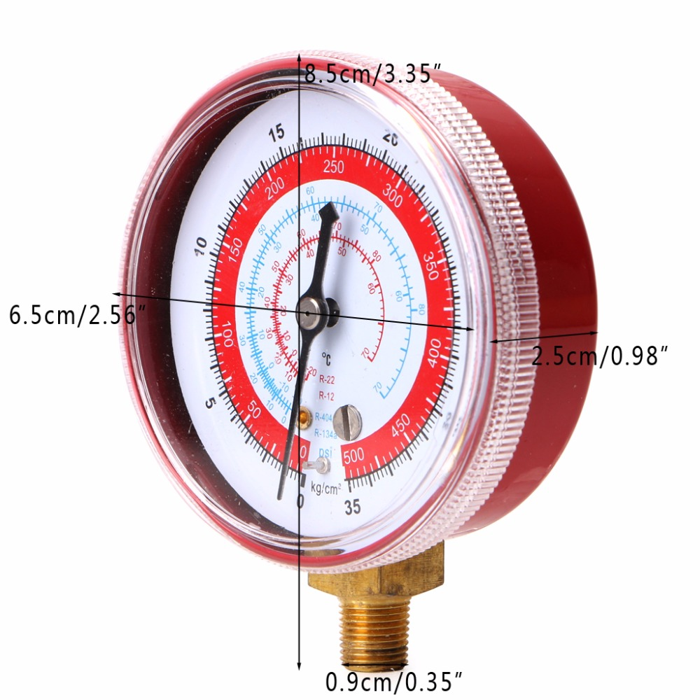 2017 Red Air Conditioner R404 R134a R22 Refrigerant High Pressure Barometer Signal Gauge Psi Kpa In Oil Gauges From Automobiles Motorcycles On