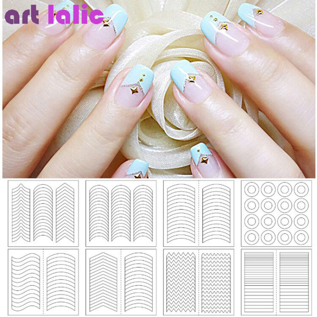 24 Styles French Swirls Guide Nail Decal Stickers