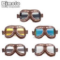 Motorrad Goggle Helm Brille Für Harley Vintage Retro Aviator Cruiser Motocross Goggles Motorrad Roller Moto Brillen