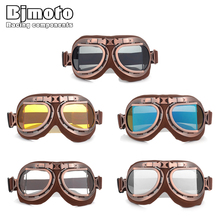 Motorcycle Goggle Helmet Glasses For Harley Vintage Retro Aviator Cruiser Motocross Goggles Motorbike Scooter Moto Eyewear