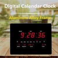 Large LED Digital Wall Clock EU Plug Power Crystal Electronic Calendar Digital Alarm Clock Desktop Clock despertador Clock
