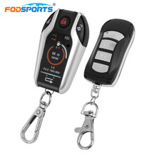 Fodsports Motorcycle Alarm Remote Control Engine Start Two 2 Way Alarm System Anti-Theft Device Vibration Alarm Lock Syste