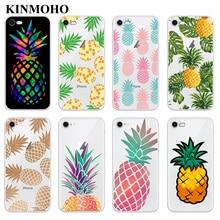 KINMOHO Transparent Soft TPU Tropical Pineapple Phone Cases Cover For iPhone 7 8 Plus 6s 6 X XR XS MAX 5S SE Capinha Funda Coque