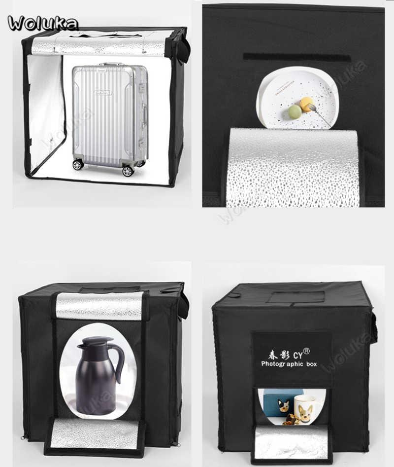 Затемнение 50 см светодиодный studio box set простой мини продукта софтбокс для фотографий фотостудия фон портативный складное оборудование CD50 T10
