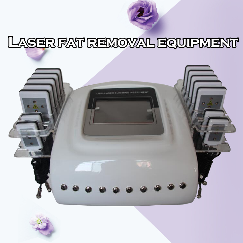 New 635-650nm Lipo Laser Machine Diode Lipo Laser Lipolaser Fat Removal Equipment Lipolaser Machine (14 Paddles)