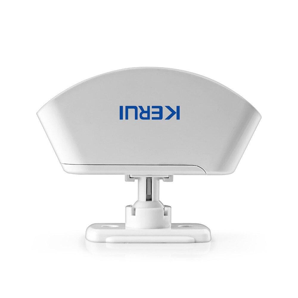 KERUI Drahtlose 433MHz Vorhang PIR Motion Wireless Strobe Licht Willkommen Chime Türklingel Einbrecher Alarm System
