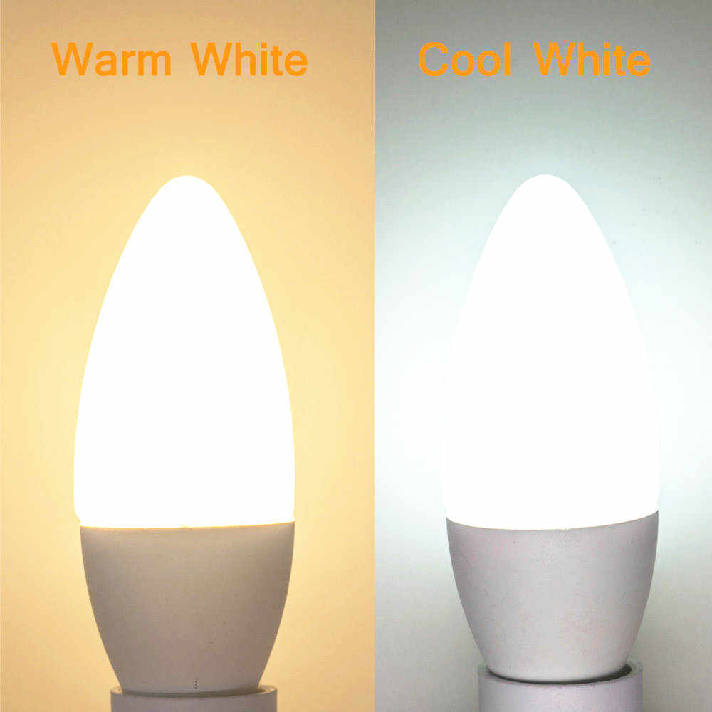 Free Shipping! LED Candle Bulb E14 LED Candle Lamp low-Carbon life SMD2835 AC220-240V Warm White/White Energy Saving 1pcs/lot