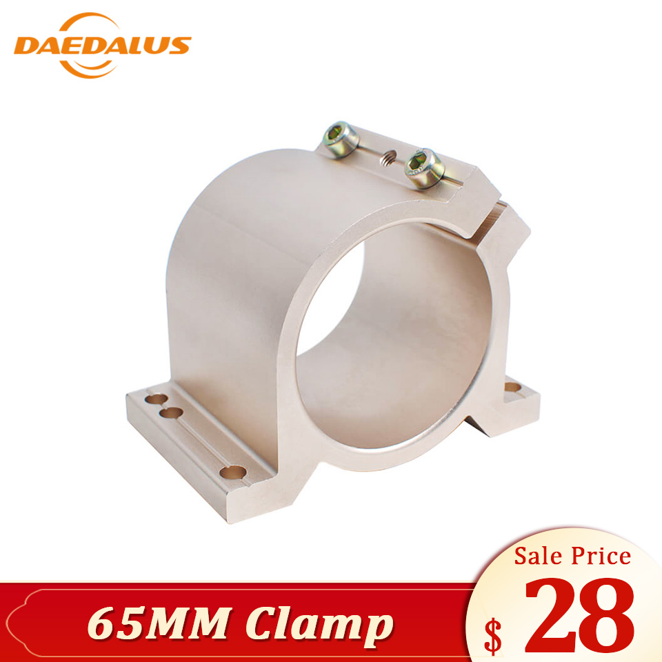 Daedalus Golden Color Spindle Fixture Bracket Clamp Mount 65Mm For 300W 400W 500W 600W Spindle Motor Cnc PartsDaedalus Golden Color Spindle Fixture Bracket Clamp Mount 65Mm For 300W 400W 500W 600W Spindle Motor Cnc Parts